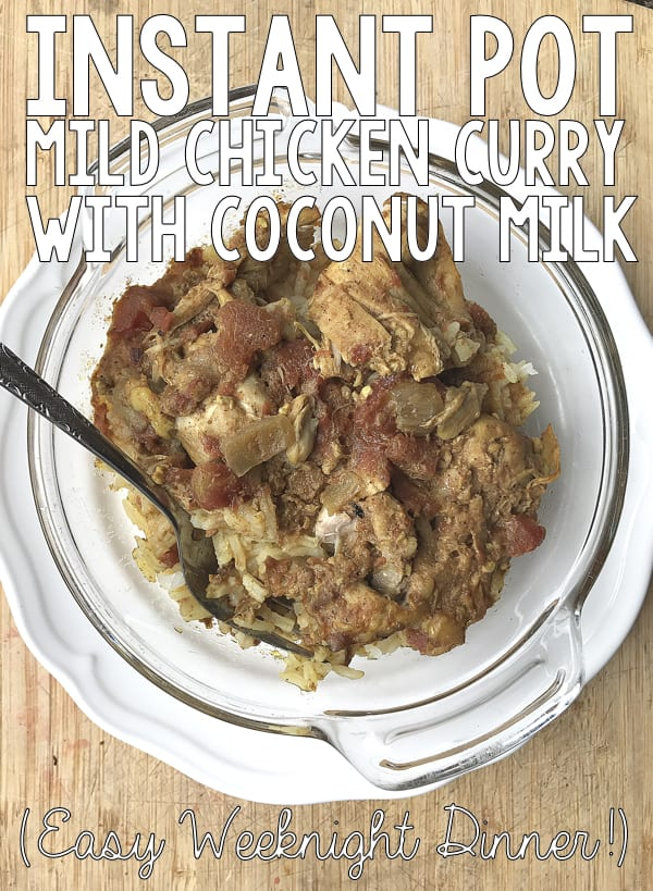 *BEST EVER* Mild Chicken Curry in the Instant Pot!