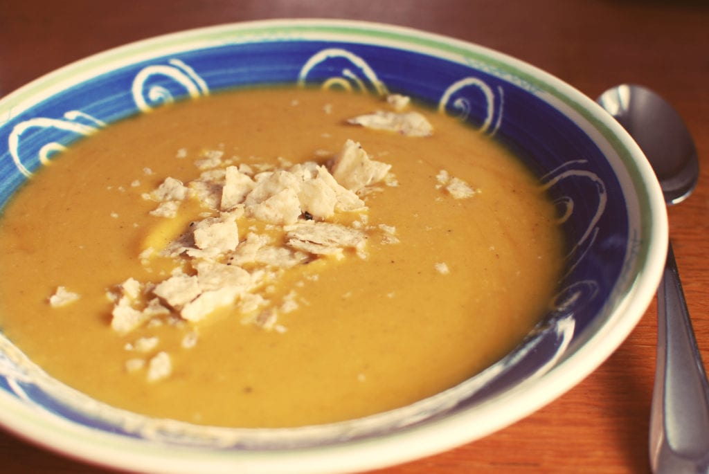 Curried Butternut Squash Soup - Red and Honey