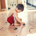 DIY: Re-Usable Play Mat for Cars & Trains