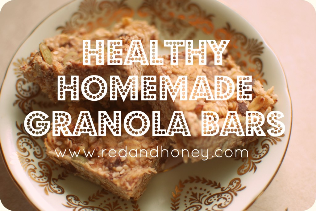 Healthy homemade granola bars red and honey this ccuart Choice Image