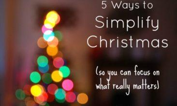 5 Ways to Simplify Christmas