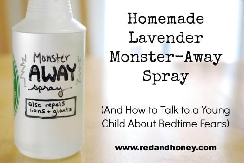 Homemade Lavender Monster-Away Spray