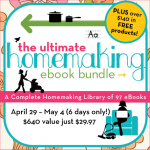 Coming Soon! The Ultimate Homemaking ebook Bundle Sale!