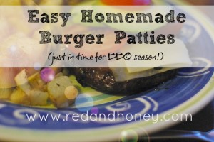 Easy Homemade Burger Patties