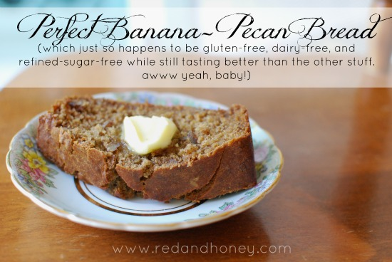 Banana pecan bread red and honey this forumfinder Choice Image