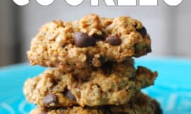 These are amazing, healthy, chocolate chip cookies (I didn't know there was such a thing!! :))