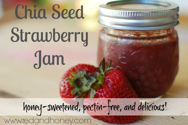 This strawberry chia seed jam would make a great gift!!