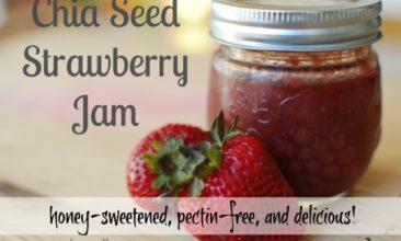 Instant Pot Strawberry Chia Seed Jam (Honey-Sweetened)