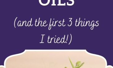 """Pinterest pin, image is of four bottles of essential oils. Text overlay says, """"50 Uses for Essential Oils: oil uses for every day!"""""""