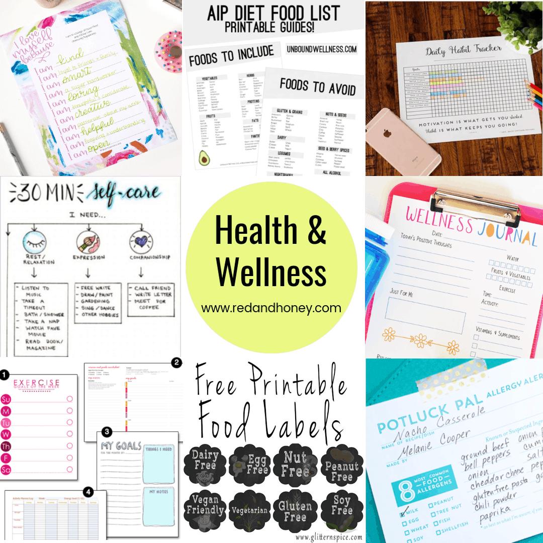 100+ Free Printables for Home & Health (Calendars, Habit