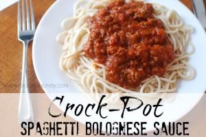 Crock-Pot Spaghetti Bolognese Sauce