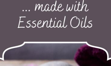 "Pinterest pin, image is a candle, towel and hot rocks. Text overlay says, ""DIY Massage Oil: made with essential oils""."