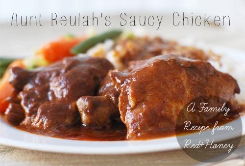 Aunt Beulah's Saucy Crockpot Chicken recipe