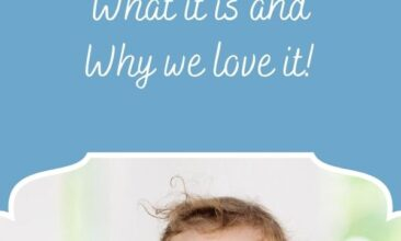 """Pinterest pin, image is of a baby putting a spoon into their mouth. Text overlay says, """"What is Baby Led Weaning? + why we love it!"""""""