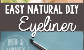 This super simple recipe for natural eyeliner is 100% non-toxic, and works beautifully! It'll take you just a few seconds to mix some up!