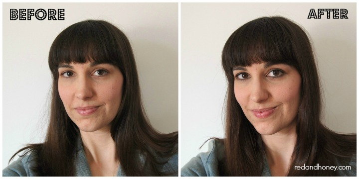 DIY Natural Eyeliner (before and after)