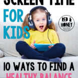 It can be so difficult to figure out a healthy balance for screen time. Not too much, but not banning it altogether, either. This advice makes so much sense!