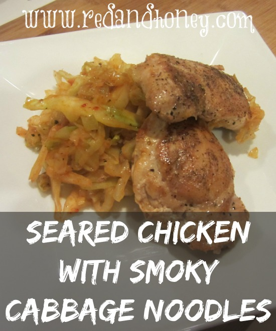 Seared chicken with smoky cabbage noodles will FOR SURE become one of your go-to chicken gluten-free recipes!