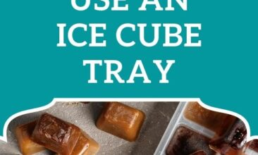 """Pinterest pin, image is of frozen cubes of coffee. Text overlay says, """"Totally genius ways to use an ice cube tray: 18 ideas that will blow you away!"""""""
