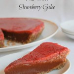 Chocolate Sweet Potato Pie with Strawberry Gelee (Grain-free)