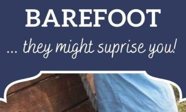"""Pinterest pin, image is of a little boy climbing a playset barefoot. Text overlay says, """"5 Reasons to Let Your Children Go Barefoot: they might surprise you!"""""""