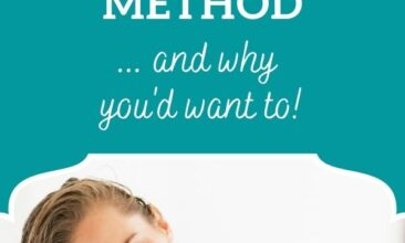 """Pinterest Pin image is of a woman brushing through her long hair. Text overlay says, """"How to Get Started with the No-Poo Haircare Method - and why you'd want to!""""."""