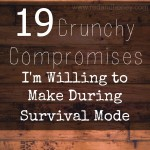 "19 Natural Living Compromises I'm Willing to Make During ""Survival Mode"""