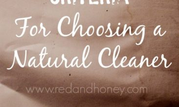 My Top 3 Criteria For Choosing a Natural Cleaner (Laundry Soap Review+Giveaway)