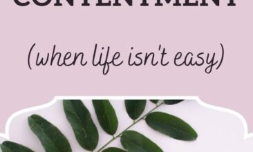 """Pinterest pin, image is of a journal, pencil and book laying on a table. Text overlay says, """"6 Habits to Increase Contentment when life isn't easy."""""""