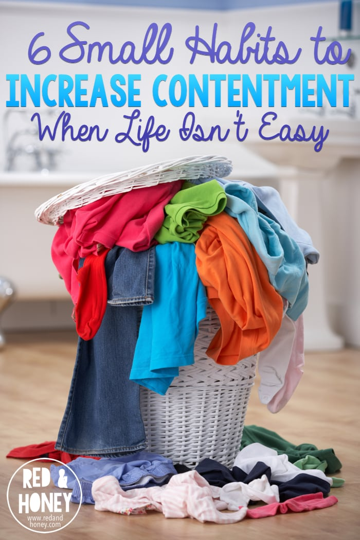 Choosing contentment is hard. Our society tells us our lives should be easy, they should be beautiful, we should have everything. Eventually all these things converge and our lives will be perfect. When that happens then we can be content.  Doesn't work that way, does it? Here are six small ways to focus on contentment in hard seasons.