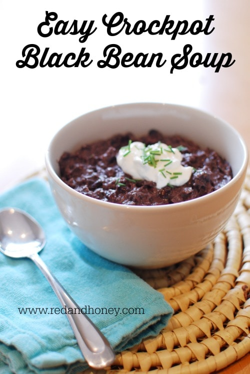 Black bean soup is the sneakiest meal ever; it's basically like a ninja. It's super frugal and ridiculously easy. There's no main meat feature. There's not a plethora of fancy ingredients to be deemed gourmet. One might think that it shouldn't even taste very good with that introduction, but BAM! It's a party of deliciousness!