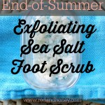 End-of-Summer Sea Salt Exfoliating Foot Scrub