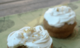 pumpkin spice cake with maple cream cheese frosting