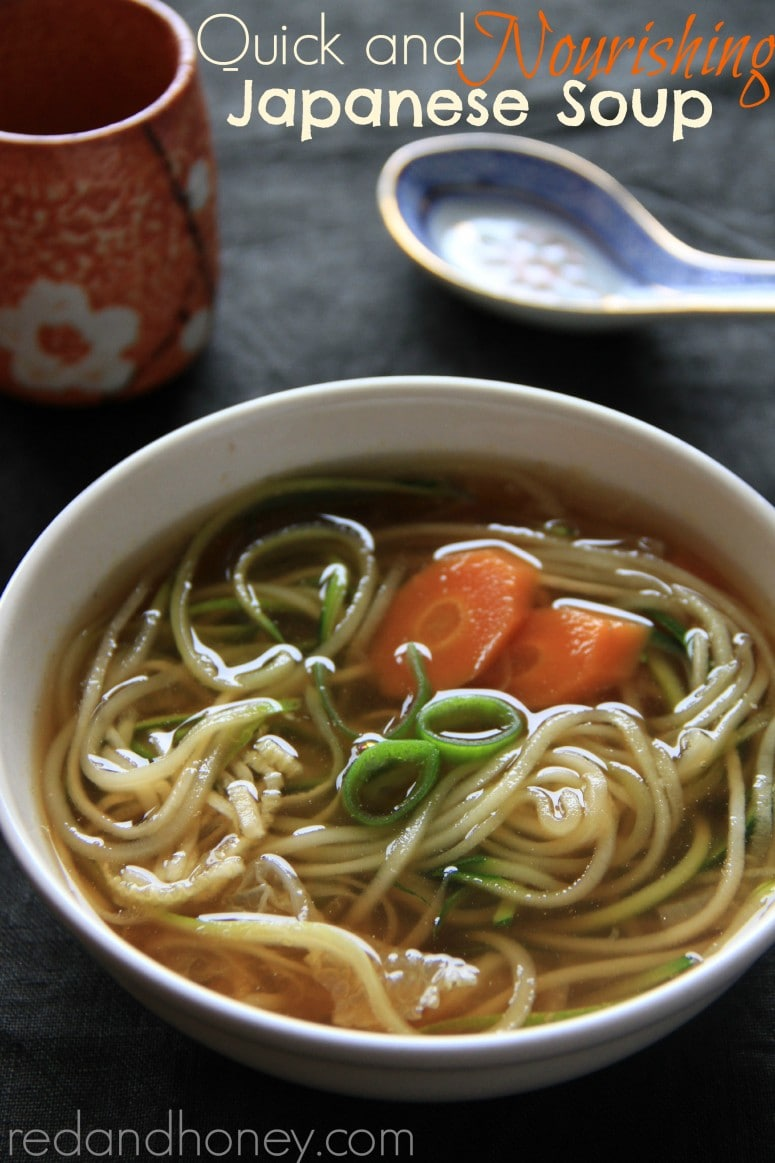 Quick Amp Nourishing Japanese Soup Red And Honey