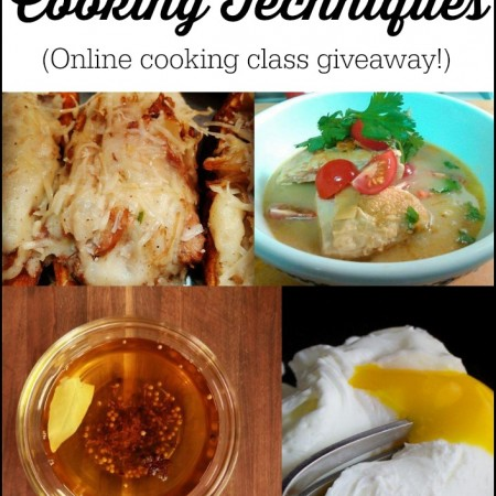 20 Essential Cooking Techniques - a review & giveaway of Craftsy.com online cooking class.