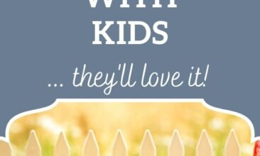 """Pinterest pin, image is of fresh herbs piled on a table with a chalkboard sign that says """"Herb Garden"""". Text overlay says, """"4 Ways to Share Herbalism with Kids: they will love it!"""""""