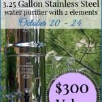 Royal Berkey Water Filter GIVEAWAY! ($300 value)