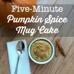 Five-Minute Pumpkin Spice Mug Cake (with Coconut Flour)