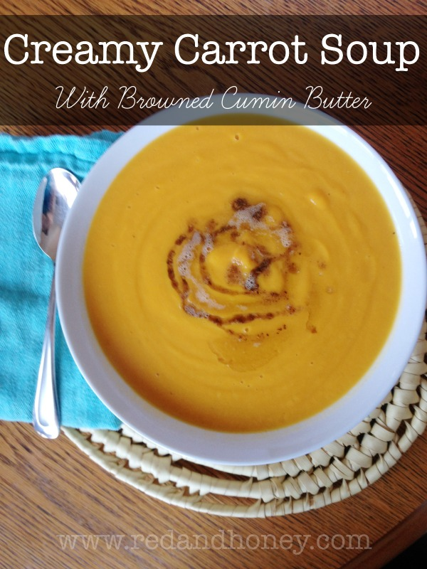 This easy creamy carrot soup is made with wholesome, nourishing ingredients, and is sure to please even the picky eaters in the house. The simple flavors are perfect for fall with a balance of salty, sweet, and savory. I loved this soup even more than I imagined I would! It was truly delightful.