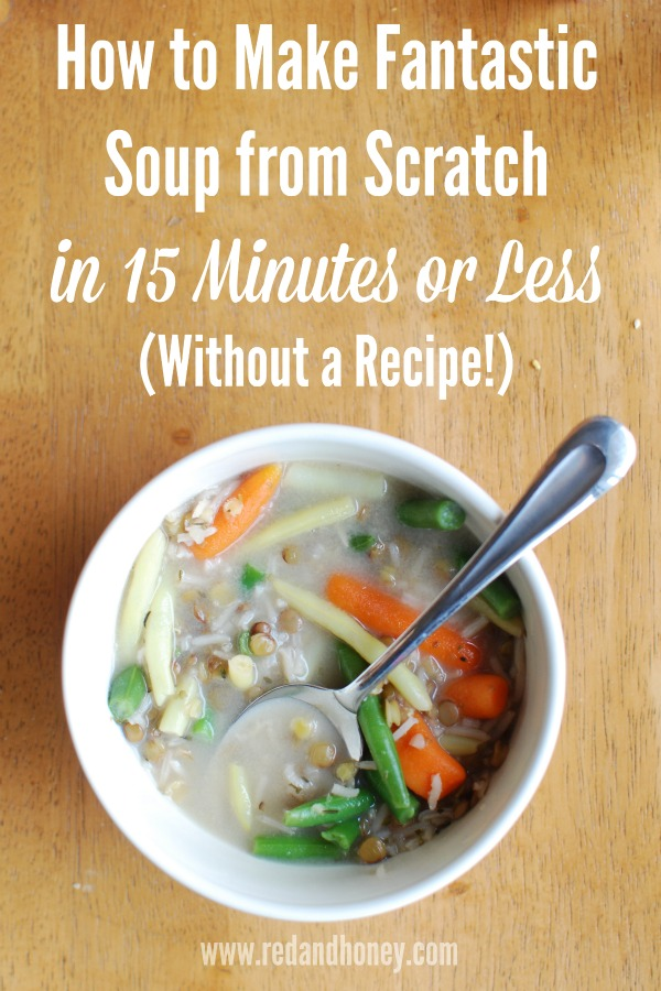 I pin the deliciously fancy and complicated soup recipes with weird ingredients and high hopes for the future, but there they remain, in digital lockdown. Sometimes you just need something a little more simple, amen? Since I don't do chicken fingers and fries from the frozen food aisle anymore, I was grateful to put this little concoction together one day.