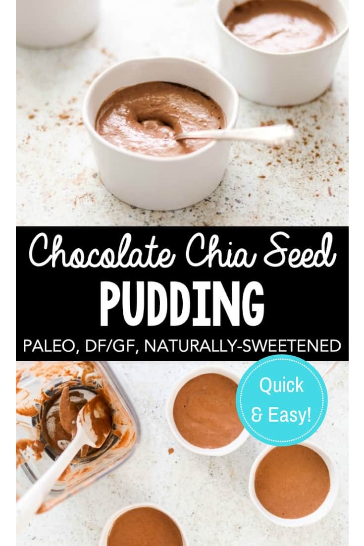 chocolate chia seed pudding collage for pinterest