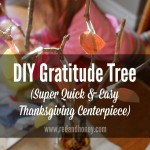 DIY Gratitude Tree (Quick & Easy Thanksgiving Centerpiece)