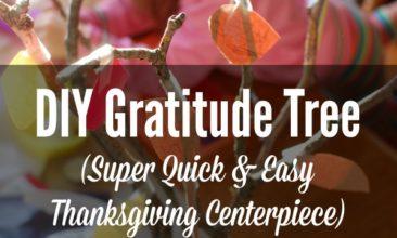 DIY Gratitude Tree (Quick & Easy Thanksgiving Centerpiece)