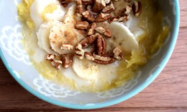 Warm Acorn Squash Breakfast Porridge