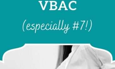 "Pinterest Pin, image is of a pregnant woman's stomach. Text overlay says, ""Ways to prepare for a successful VBAC: 7 helpful tips""."