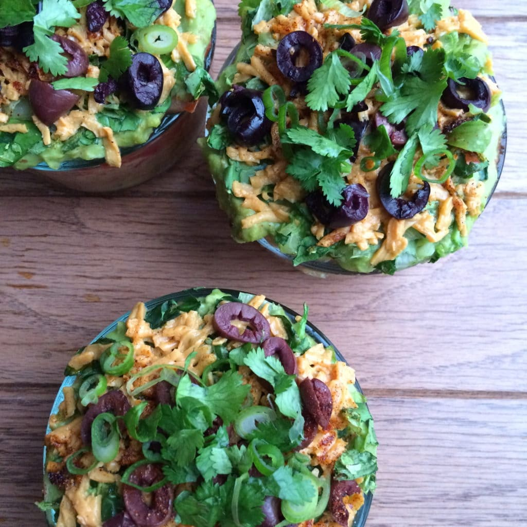 Individual-Seven Layer Dips, Revamped and Lightened Up
