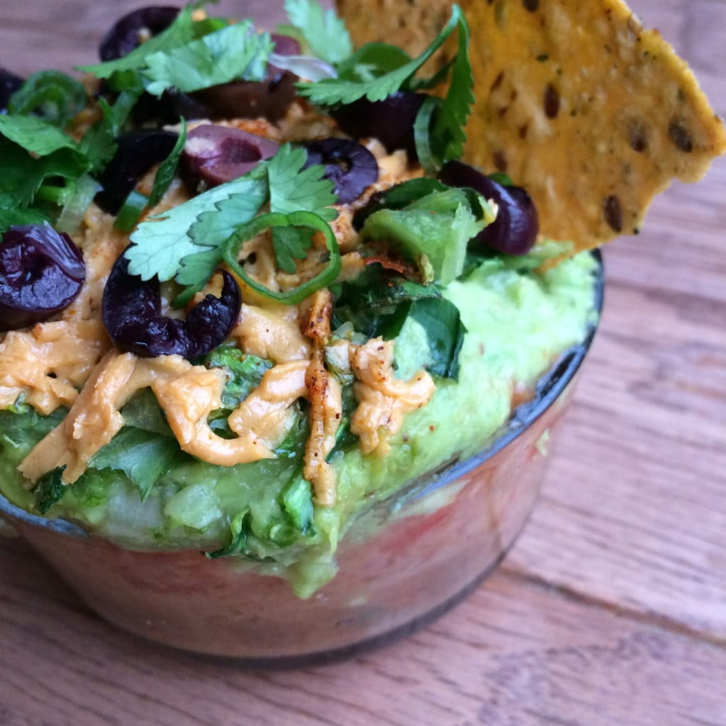 Individual Seven-Layer Taco Dip, Revamped and Lightened Up