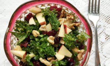 Apple Walnut Kale Salad with Citrus Vinaigrette