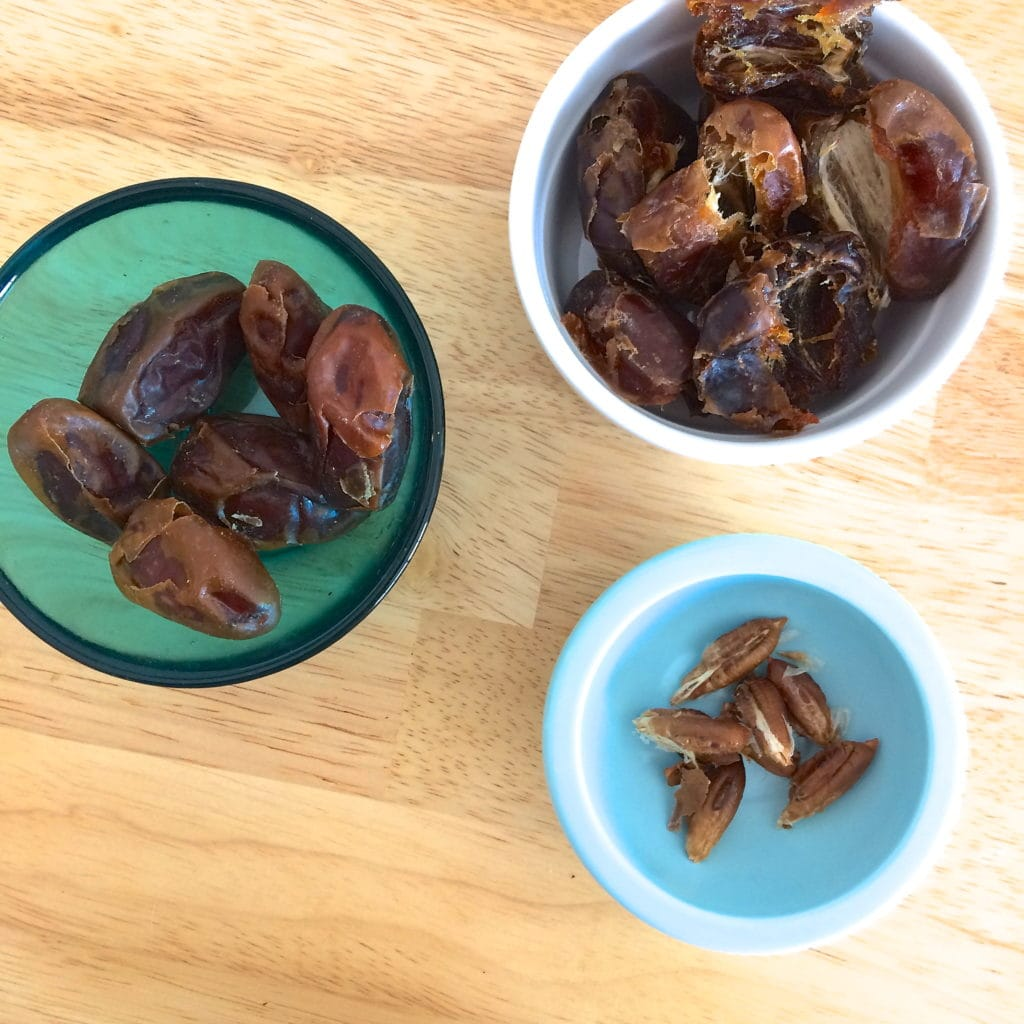 Super Simple Stuffed Dessert Dates   These stuffed medjool dates are one of my go-to desserts. When I went gluten-free and dairy-free back in 2006 due to health issues ( read my story ), I...   RedAndHoney.com