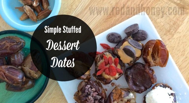 Suple Simple Stuffed Dessert Dates